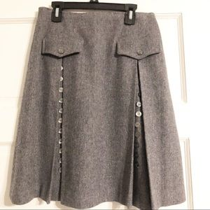Carol Brent Vintage Wool Button Detail Skirt
